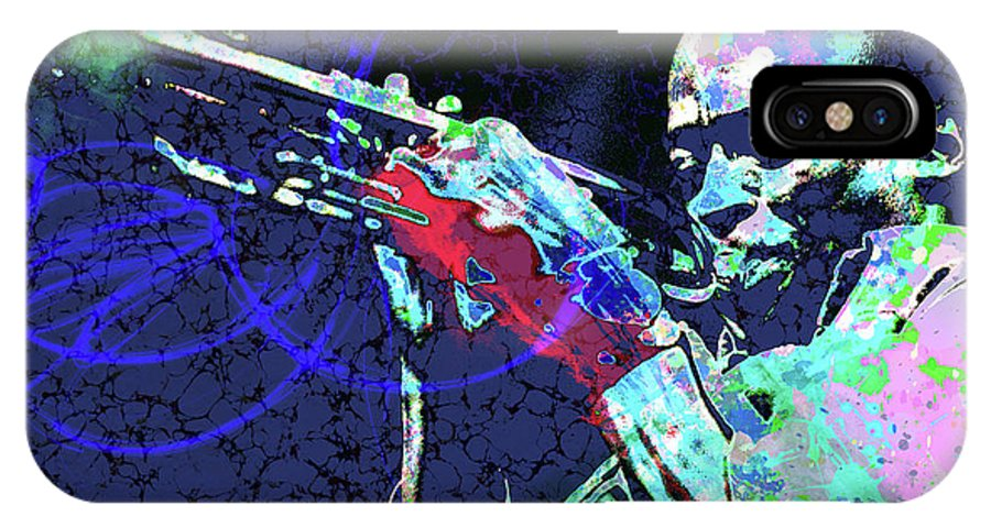 Jazz IPhone X Case featuring the digital art Miles Jazz by Gary Grayson