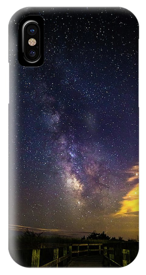 Photography IPhone X Case featuring the photograph Milky Way Over The Boardwalk by Justin Starr