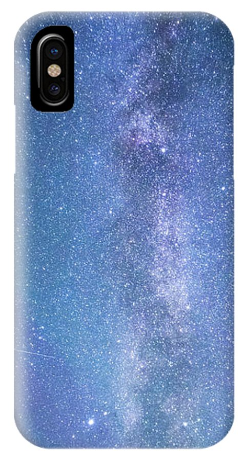 Milkyway IPhone X Case featuring the photograph Milky Way by Rimantas Matulionis