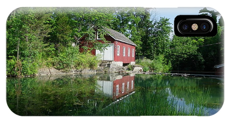 Pond IPhone X Case featuring the photograph Mill Pond by Peggy King