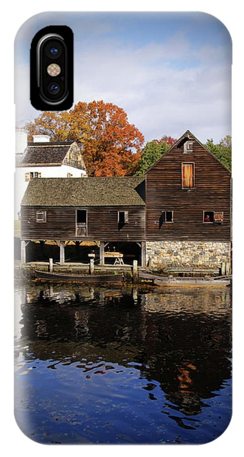 Philipsburg Manor House IPhone X Case featuring the photograph Mill Reflections by Cate Franklyn