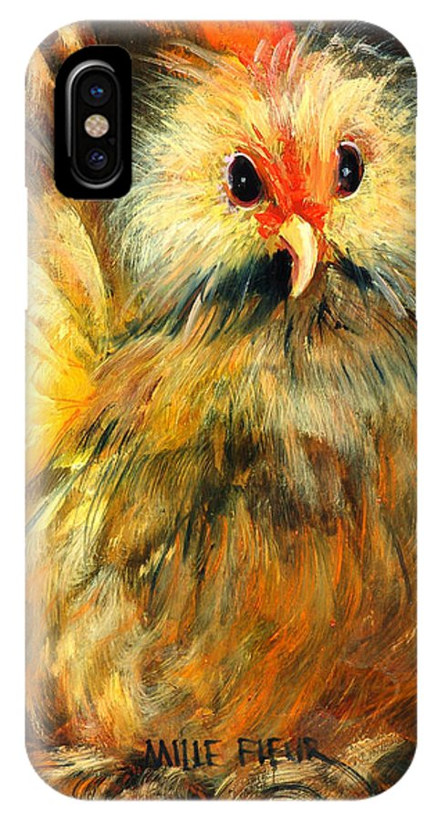 Barnyard Animals IPhone X Case featuring the painting Millie by Sally Seago
