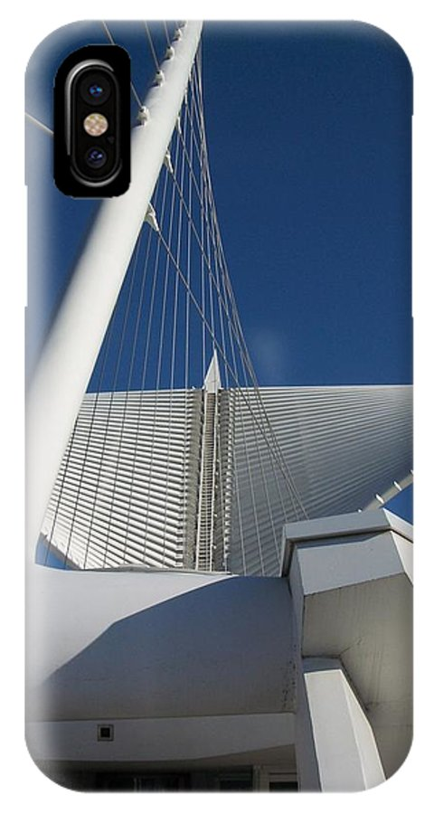 Mam IPhone Case featuring the photograph Milwaukee Art Museum Cropped by Anita Burgermeister