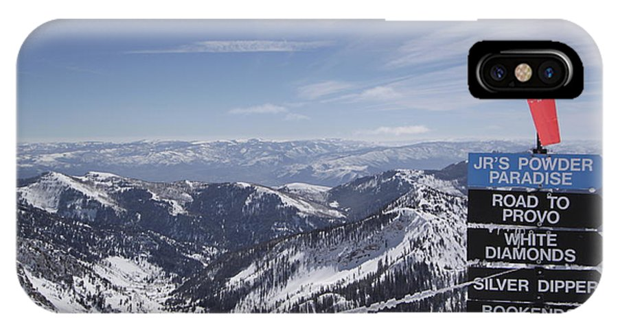 Snowbird Ski Resort IPhone X Case featuring the photograph Mineral Basin by Adam Jewell