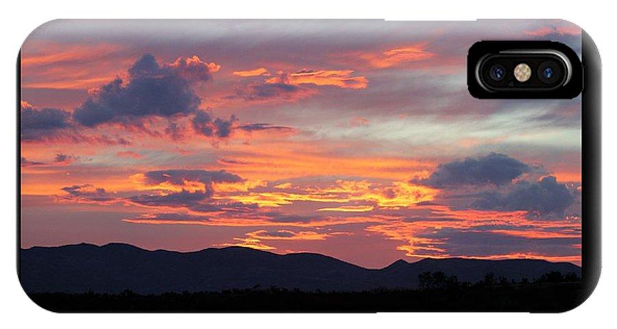 Landscape IPhone X Case featuring the photograph Mingus Sunset 052814cc by Edward Dobosh