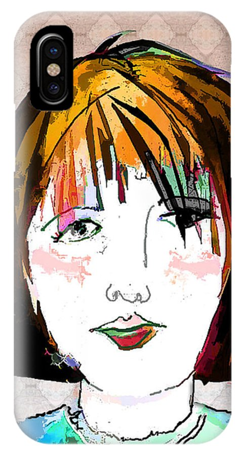 Woman IPhone Case featuring the digital art Minimal Makeup by Arline Wagner