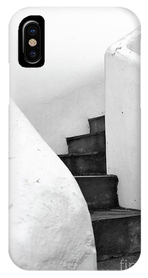 Minimal IPhone X Case featuring the photograph Minimal Staircase by PrintsProject