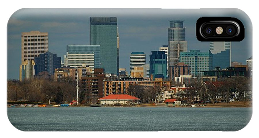 Landscape IPhone Case featuring the photograph Minneapolis Skyline by D Nigon