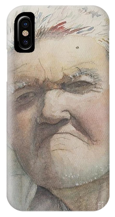 Portrait IPhone Case featuring the painting Minnesota Farmer by Nadine Rippelmeyer