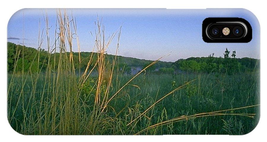 Prairie IPhone X Case featuring the photograph Minnesota Prairie Moon rise by Sven Brogren