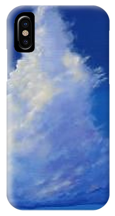 Clouds IPhone X Case featuring the painting Minor Earth Major Sky by Hunter Jay