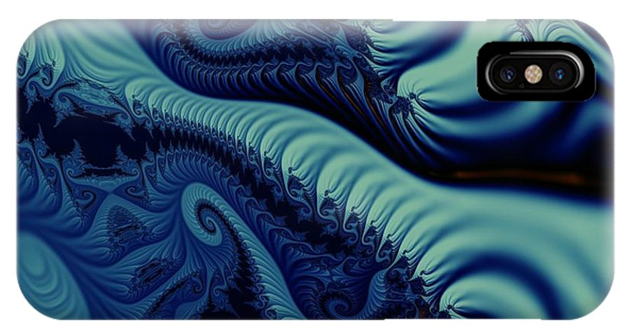 Fractal Image IPhone X Case featuring the digital art Mint by Ron Bissett