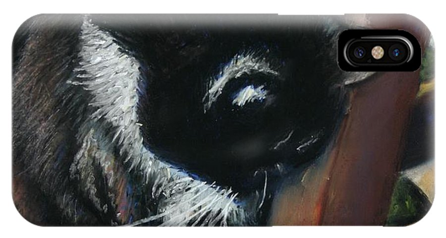 Cat IPhone Case featuring the painting Kitty Chair by Minaz Jantz