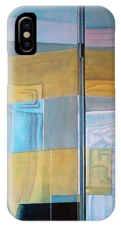 Miroir IPhone X Case featuring the painting Miroir by Muriel Dolemieux