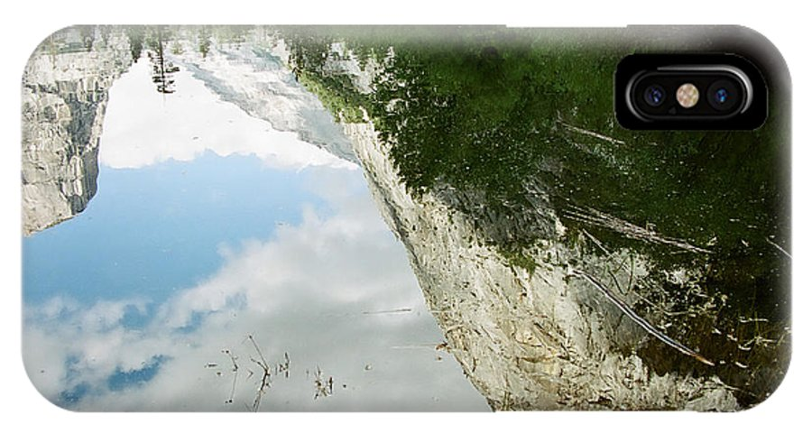 Mirror Lake IPhone X Case featuring the photograph Mirrored by Kathy McClure