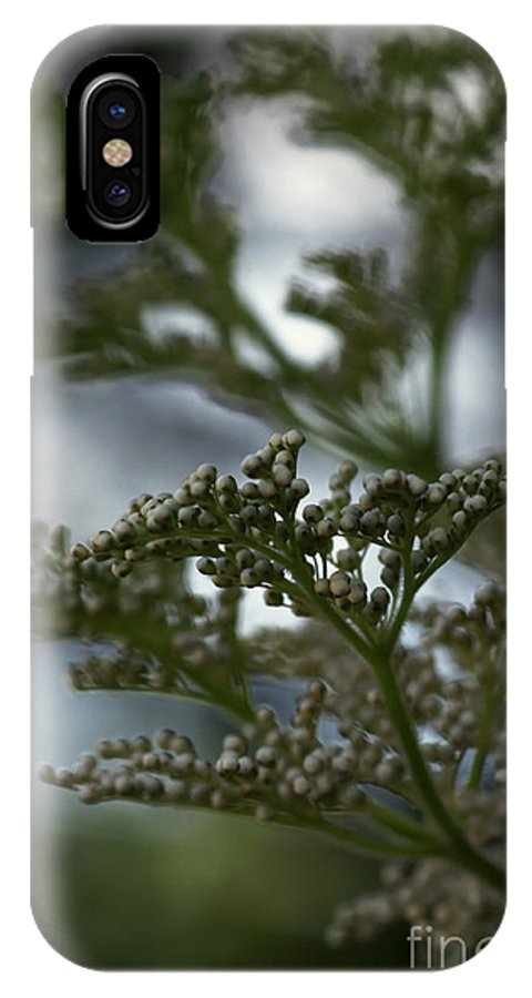 Abstract IPhone X Case featuring the photograph Mirrored by Linda Shafer