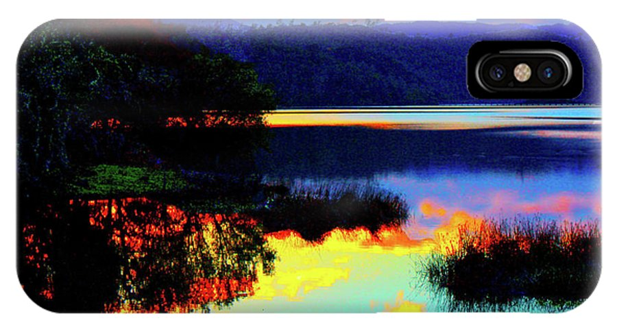 Reflections IPhone X Case featuring the photograph Mirrored Sky by Stephen Edwards