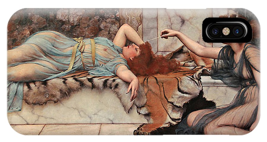 Mischief And Repose John William Godward Oil Canvas IPhone X / XS Case featuring the painting Mischief And Repose by Maxim Plotnikov