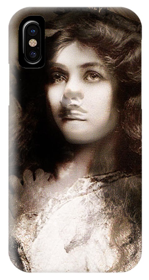 IPhone X Case featuring the painting Miss Maude Fealy by Maciej Mackiewicz