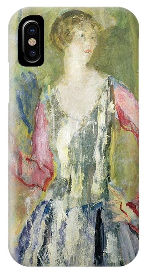 Miss IPhone X Case featuring the painting Miss Nancy Cunard by Ambrose McEvoy