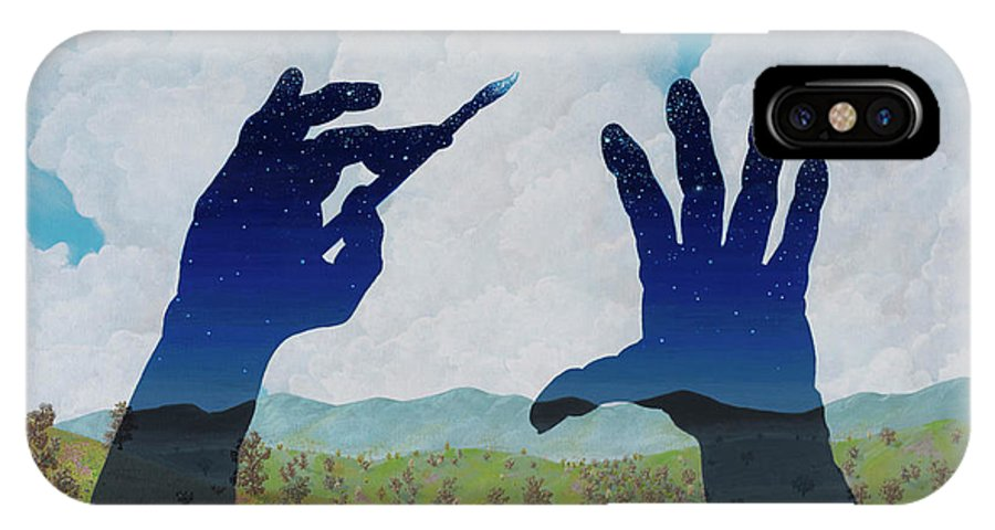 Landscape/ Surreal IPhone X Case featuring the painting Missed A Spot by Jon Carroll Otterson
