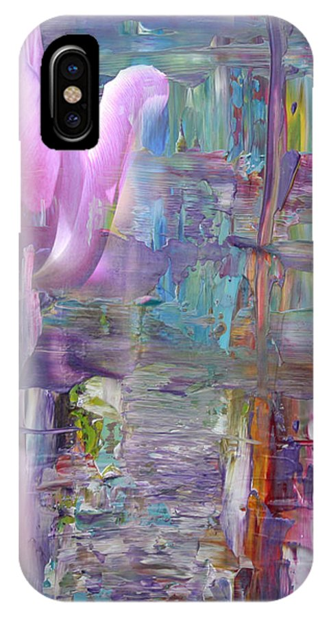 Tulip IPhone X Case featuring the mixed media Missing You by Cid