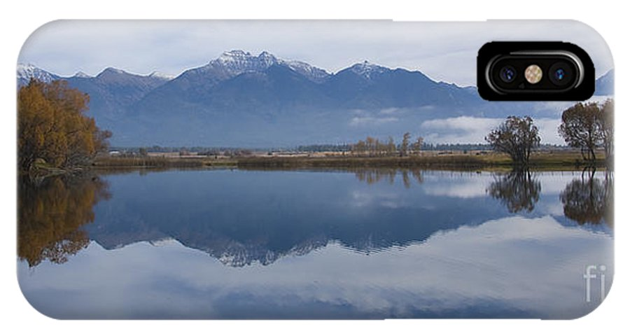Reflection IPhone X Case featuring the photograph Mission Range by Idaho Scenic Images Linda Lantzy