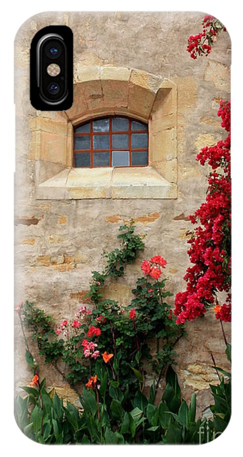 Window IPhone X Case featuring the photograph Mission Window by Carol Groenen