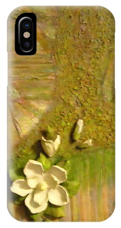 Mississippi IPhone X Case featuring the painting Mississippi Regions by Sheri Hubbard
