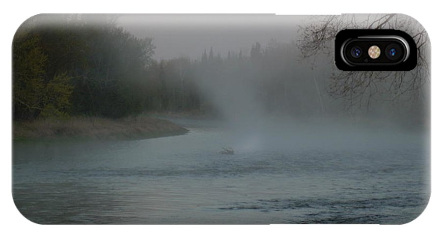 Mississippi River IPhone X Case featuring the photograph Mississippi River Fog Swirls by Kent Lorentzen
