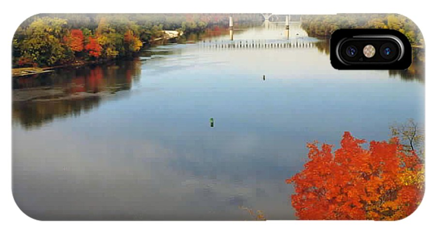 Mississippi IPhone X Case featuring the photograph Mississippi River by Kathy Schumann