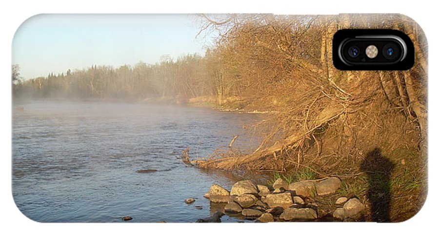 Mississippi River IPhone X Case featuring the photograph Mississippi River Shades Of Fog by Kent Lorentzen