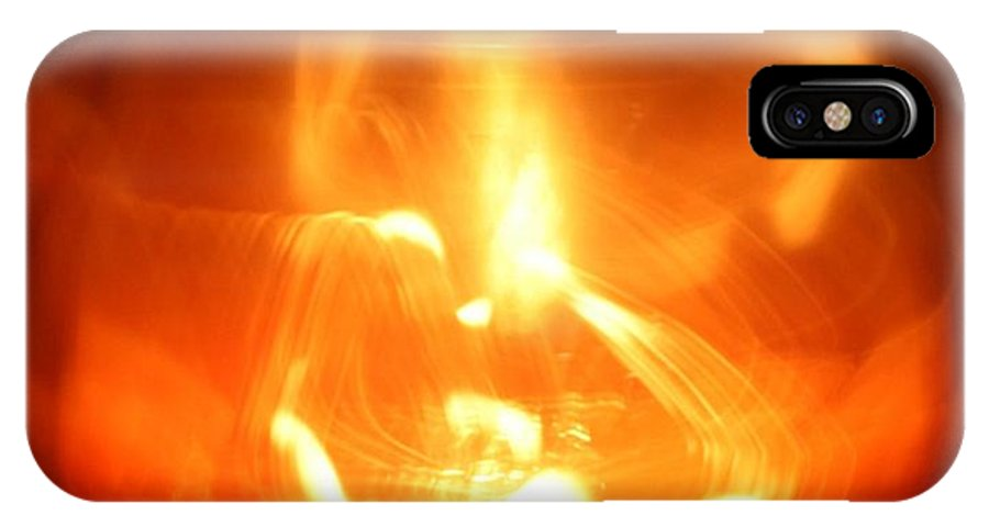 Abstract IPhone X Case featuring the photograph Mistic Candle by Joshua Sunday
