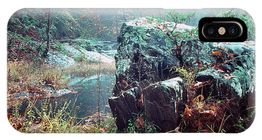 Usa IPhone X Case featuring the photograph Misty Chopawamsic Creek Autumn Day by Thomas R Fletcher