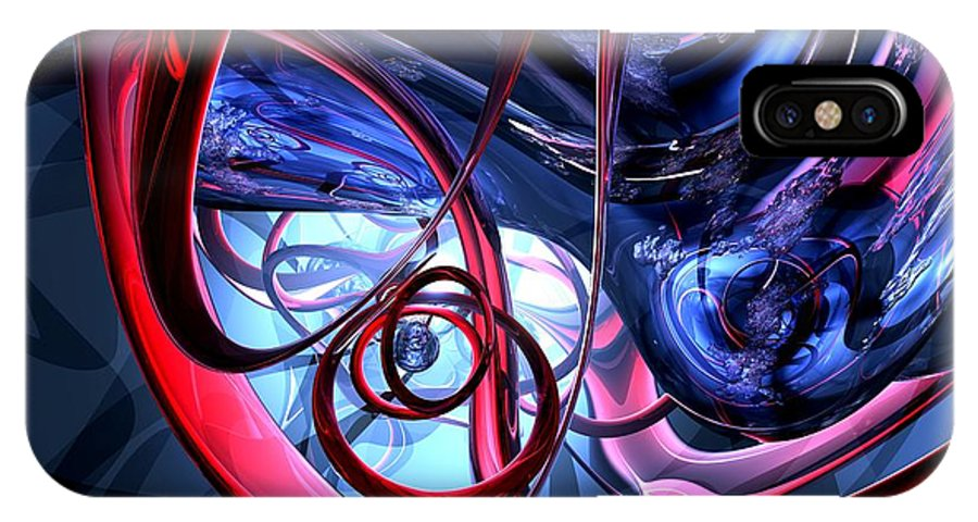 3d IPhone X / XS Case featuring the digital art Misty Dreams Abstract by Alexander Butler