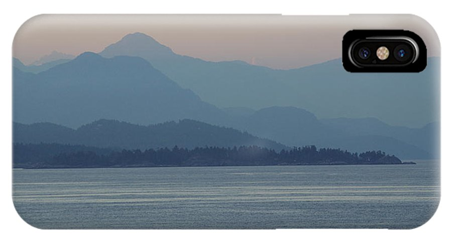IPhone X Case featuring the photograph Misty Hills On The Strait by Cindy Johnston