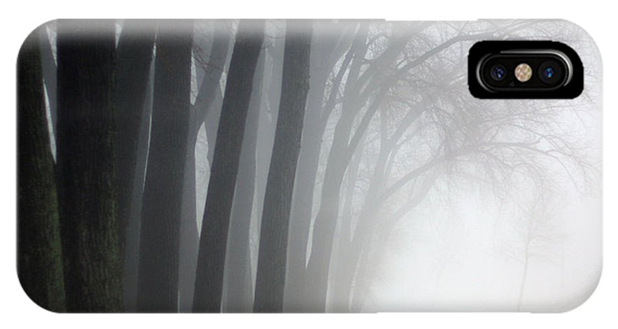 Trees IPhone X Case featuring the photograph Misty Moments by Linda Mishler