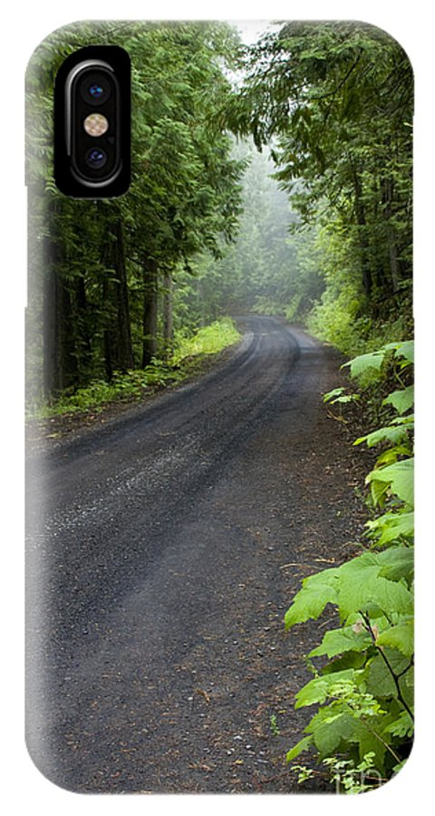 Road IPhone X Case featuring the photograph Misty Mountain Road by Idaho Scenic Images Linda Lantzy