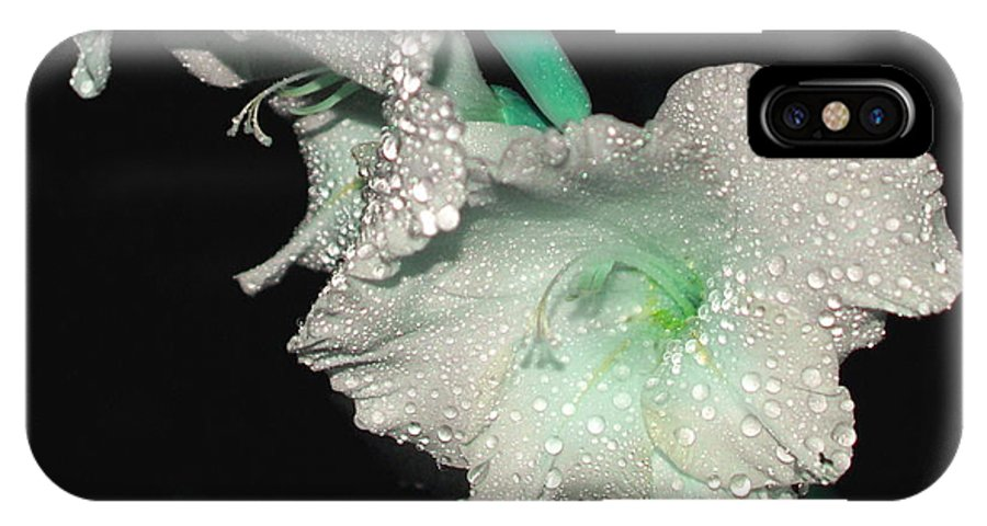 Gladiollas IPhone X Case featuring the photograph Misty Petals by Debbie May