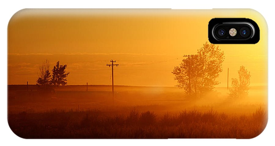 Sun IPhone X / XS Case featuring the photograph Misty Sunny Morning by Todd Klassy