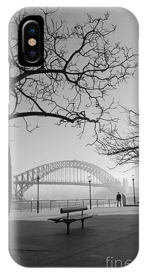 Sydney Harbour Bridge Mist Australia IPhone X Case featuring the photograph Misty Sydney Morning by Sheila Smart Fine Art Photography