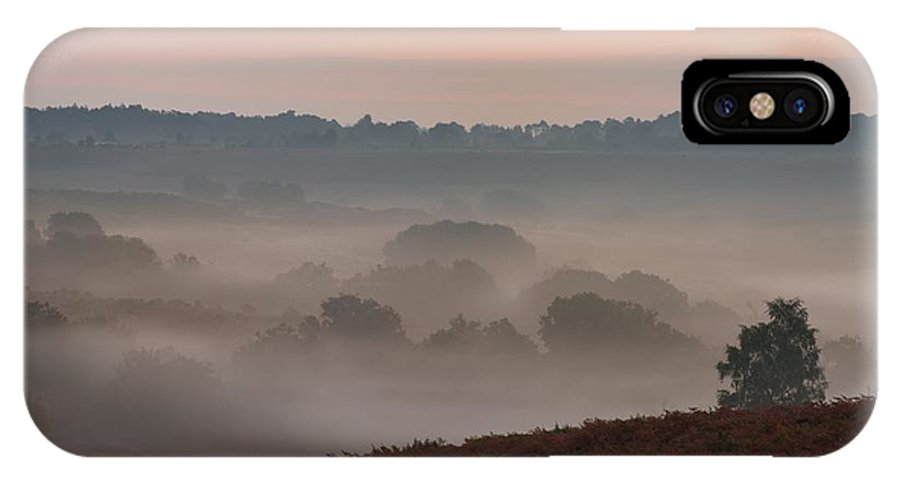 Mogshade IPhone X Case featuring the photograph Misty Valley Sunrise by Giovanni Giuliano