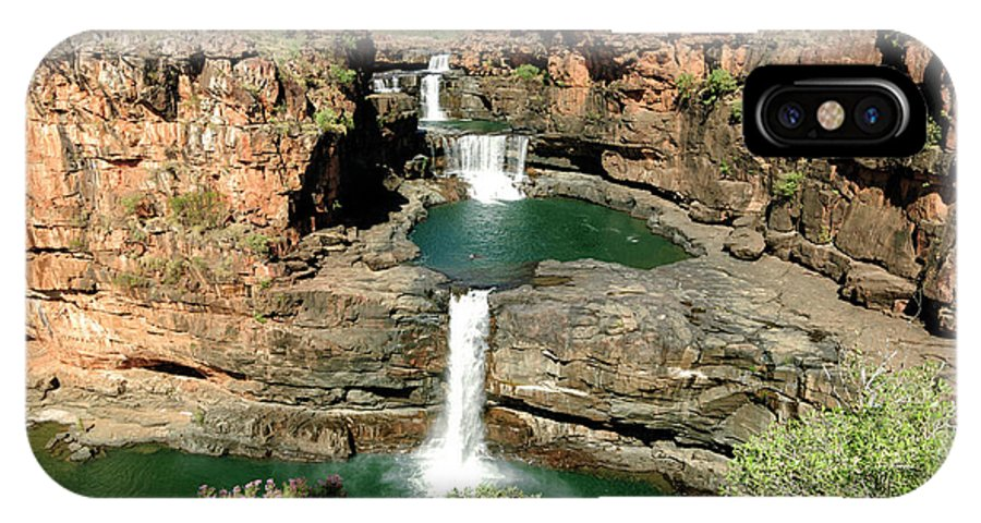 Australia IPhone X / XS Case featuring the photograph Mitchell Falls Cascades by Genevieve Vallee
