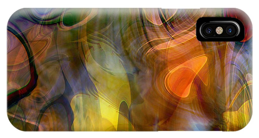 Mixed Emotions IPhone X Case featuring the digital art Mixed Emotions by Linda Sannuti
