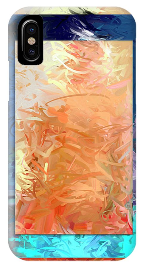 Lady Gaga Abstract Modern Contempory Acrylic Mixed Media Portrait Pastel IPhone X Case featuring the digital art Mixed Emotions by Snake Jagger