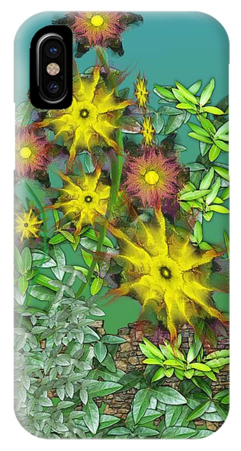 Flowers IPhone X Case featuring the digital art Mixed Flowers by David Lane