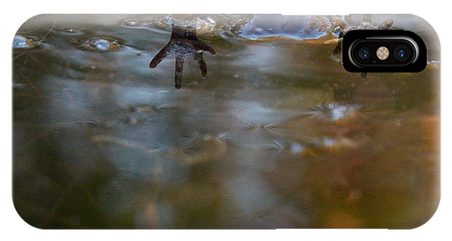 Lehtokukka IPhone X / XS Case featuring the photograph Mixed Frogs Hands Up by Jouko Lehto