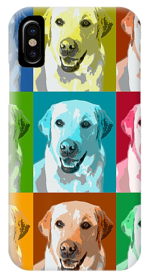 Americana IPhone X Case featuring the photograph Golden Retriever Warhol by Marilyn Hunt