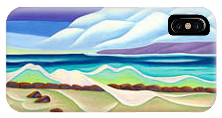 Landscape IPhone Case featuring the painting Moana Kai Surf by Lynn Soehner