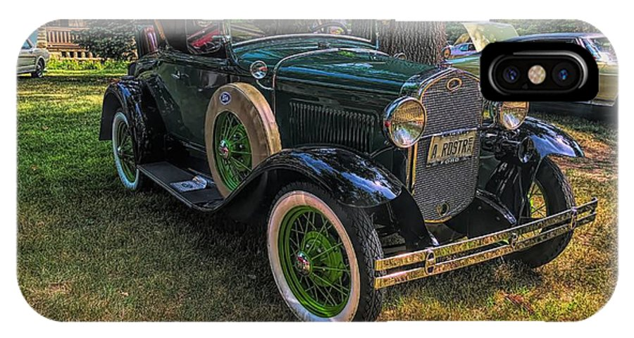 Model A Ford IPhone X Case featuring the photograph 1928 Model A Ford by Luther Fine Art